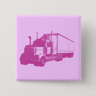 Pink Truck 15 Cm Square Badge
