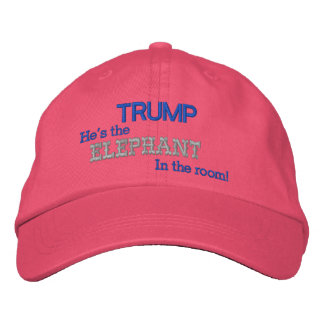 Pink TRUMP He's the ELEPHANT In the Room! Embroidered Baseball Caps