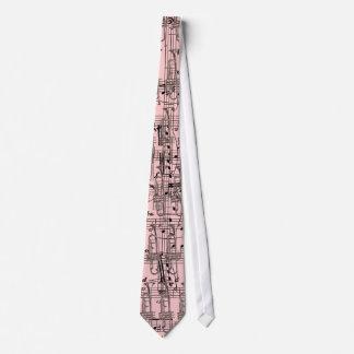 Pink Trumpet & Music Notes Tie