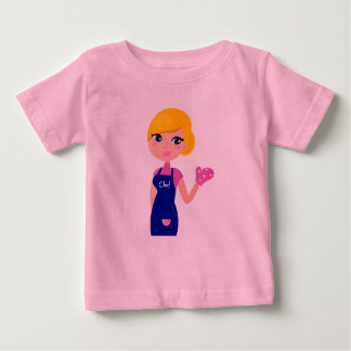 Pink Tshirt for baby with Mother drawing