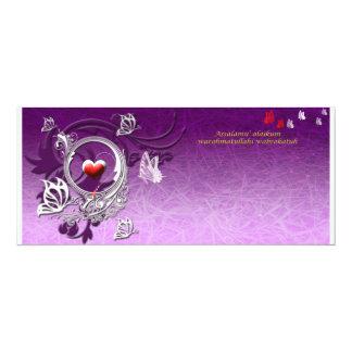 pink tua-1 10 cm x 24 cm invitation card