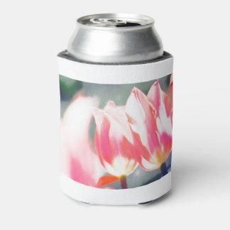 Pink Tulip Duo Sketch Can Cooler