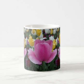Pink Tulip Flower White Coffee Mug