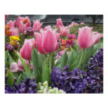 Pink Tulip Forest Poster