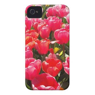 Pink Tulip Garden iPhone 4 Case-Mate Cases