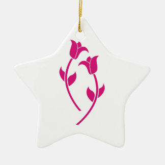 Pink Tulip Graphic Christmas Ornaments