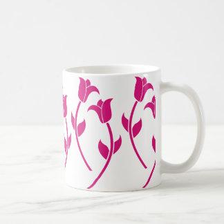 Pink Tulip Graphic Coffee Mug
