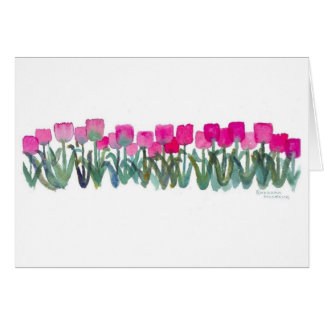 Pink Tulip Grove Card