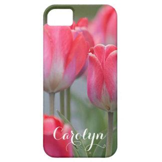 Pink tulip iPhone 5 case