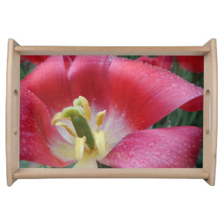 Pink Tulip Serving Tray