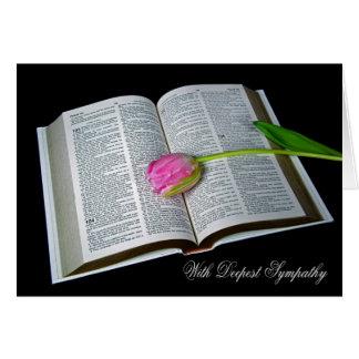 Pink Tulip Sympathy Greeting Card