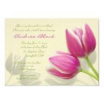 Pink Tulip Wedding Bridal Shower Invitation 13 Cm X 18 Cm Invitation Card