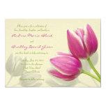 Pink Tulip Wedding Invitation 13 Cm X 18 Cm Invitation Card