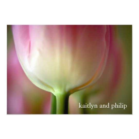 Pink Tulip • Wedding Invitation