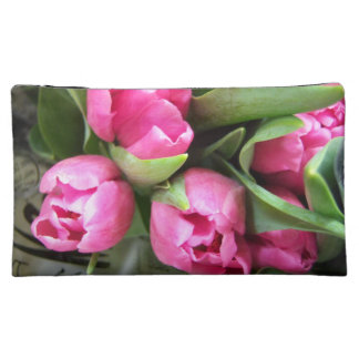 Pink Tulips Cosmetic Bag