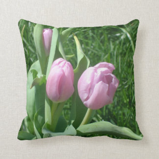 Pink Tulips Cushion