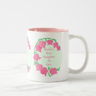 Pink Tulips Daughter in Law Two-Tone Coffee Mug