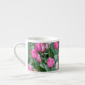 Pink Tulips Espresso Cup