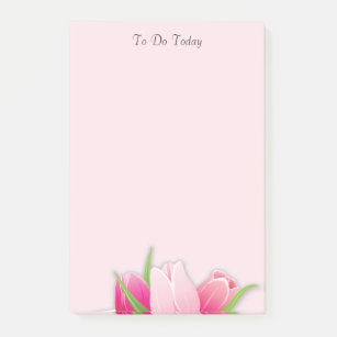 Pink flowers to do list post it notes sticky notes zazzle au pink tulips flowers to do list post it notes mightylinksfo