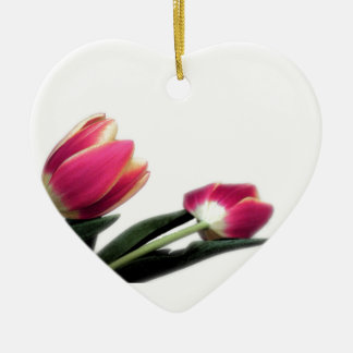 Pink Tulips Hanging Heart Ornament