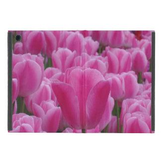 Pink Tulips iPad Mini Case with No Kickstand