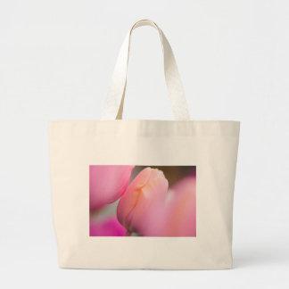 Pink Tulips Large Tote Bag