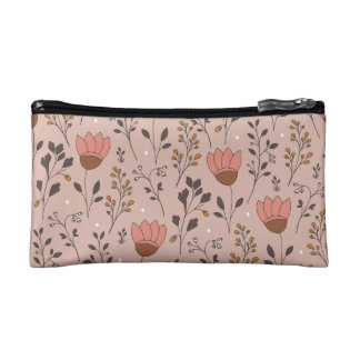 Pink Tulips Small Cosmetic Bag