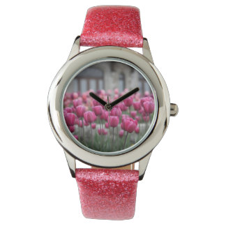 Pink Tulips Watch