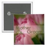 Pink Tulips • Wedding Button