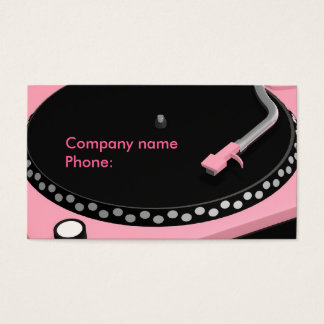 Pink Turntable Business Card