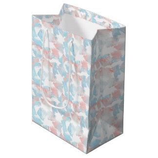 Pink Turquoise Dashes Medium Gift Bag