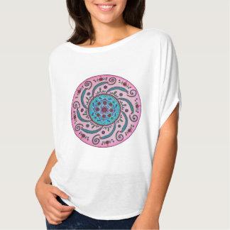 Pink & Turquoise Floral Mandala T-shirt