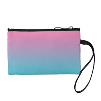 Pink & Turquoise Ombre Coin Purses