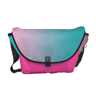 Pink & Turquoise Ombre Messenger Bag
