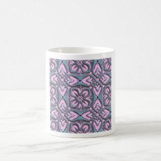 Pink turquoise pattern coffee mug