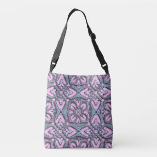 Pink turquoise pattern crossbody bag