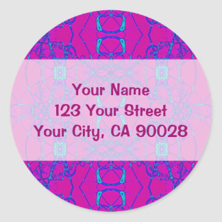 pink turquoise sticker