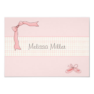 Pink Tutu Personalized Thank You / Notecard 9 Cm X 13 Cm Invitation Card