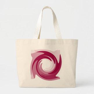 Pink Twirl Large Tote Jumbo Tote Bag