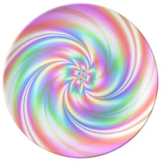 Pink Twirl Porcelein Plate Large