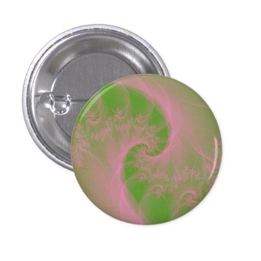 Pink Twist on Green Pinback Button