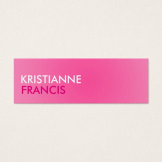 Pink two tone mini cards