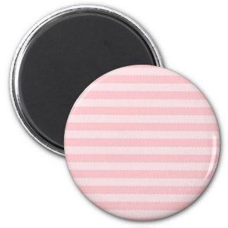 Pink Two Tone Wavy Stripes Pattern Girly Magnet