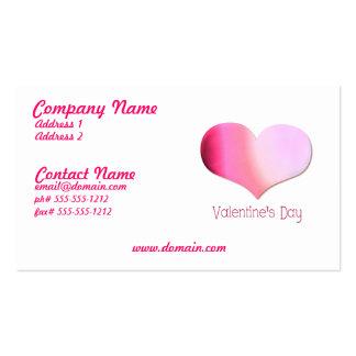 Pink Tye Dye Heart Business Card