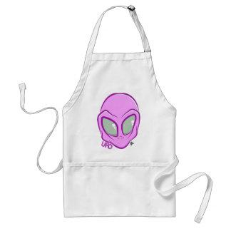 Pink UFO Martian Alien Cute Space Standard Apron