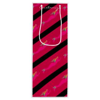 pink underwater mermaids red/black wine gift bag