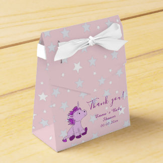 Pink Unicorn Baby shower Party favor box