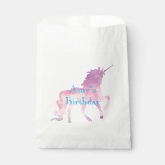Pink Unicorn Girls Birthday Party Favour Bag