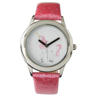 Pink Unicorn Glitter watch