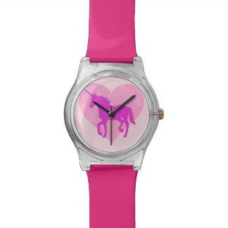 Pink Unicorn Heart Watch